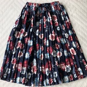 Banana Republic Floral Mid Skirt